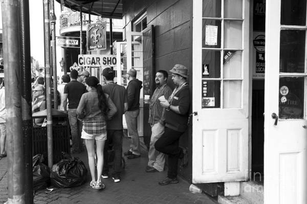Wall Art - Photograph - Lazy Day On Bourbon Street Mono by John Rizzuto