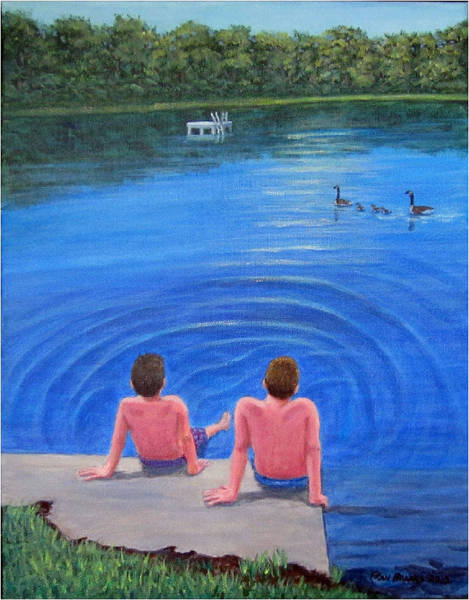 Painting - Lazy Days by Fran Brooks