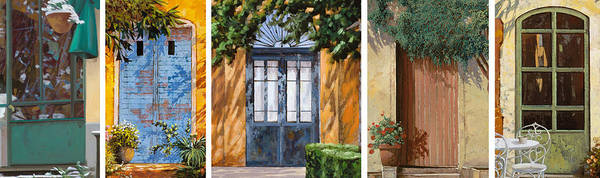 Wall Art - Painting - Le 5 Porte by Guido Borelli