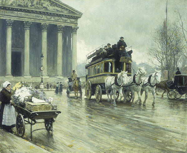Boulevard Painting - Le Boulevard A La Madeleine by Paul Fischer