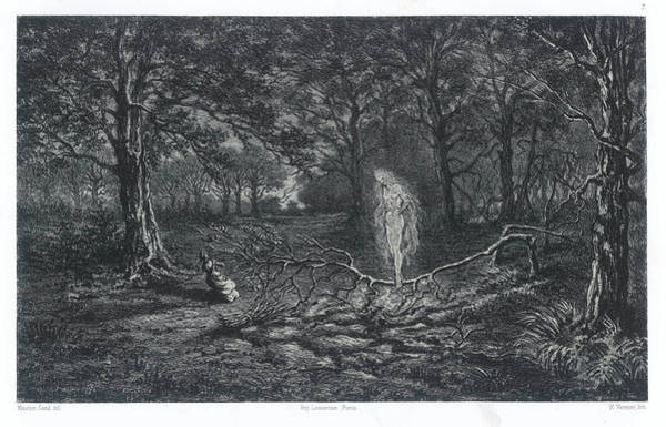 Folklore Drawing - Le Casseu' De Bois (= Branch-breaker) by Mary Evans Picture Library
