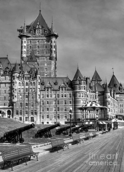 Photograph - Le Chateau Frontenac  Bw by Mel Steinhauer