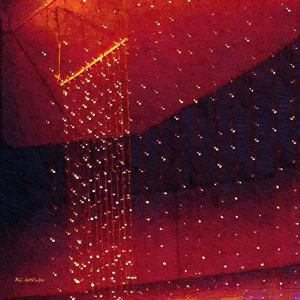 Trapeze Painting - Le Cirque Du Diable by RC DeWinter