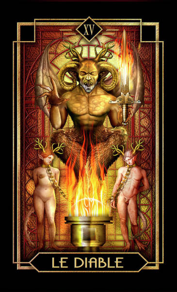 Wall Art - Drawing - Le Diable by MGL Meiklejohn Graphics Licensing