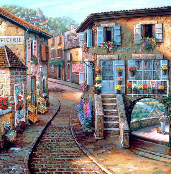 Wall Art - Painting - Le Fleuriste by MGL Meiklejohn Graphics Licensing