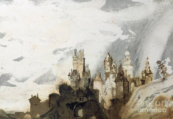 Dracula Painting - Le Gai Chateau by Victor Hugo