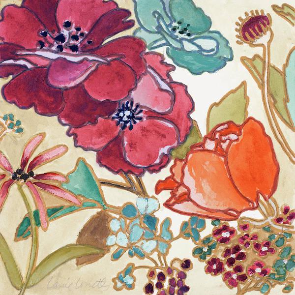 Jardin Painting - Le Jardin Colorful I by Lanie Loreth