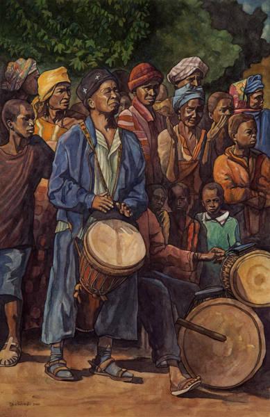 Djembe Wall Art - Painting - Le Maitre A Sangbarala by Dave Kobrenski