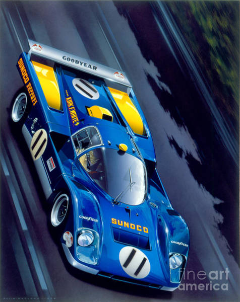 Classic Cars Digital Art - Le Mans 71 by MGL Meiklejohn Graphics Licensing