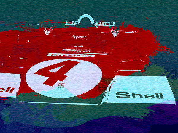 Wall Art - Painting - Le Mans Racing Car Detail by Naxart Studio