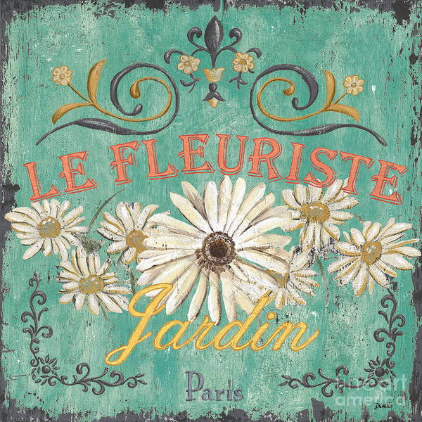 Botanical Painting - Le Marche Aux Fleurs 6 by Debbie DeWitt