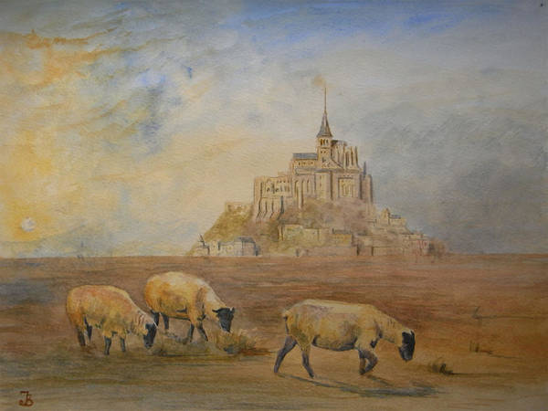 Saint Painting - Le Mont Saint Michel by Juan  Bosco