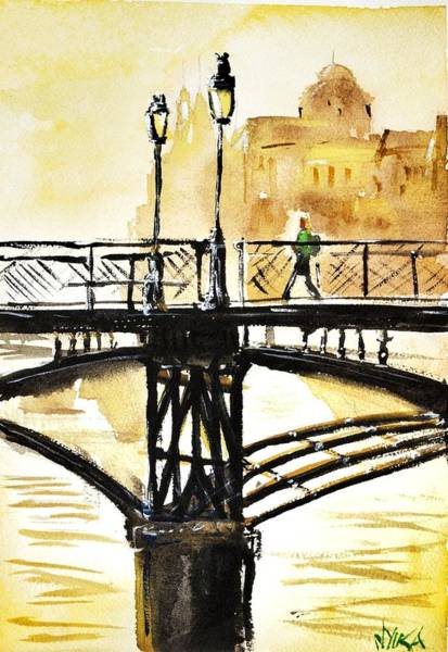 Wall Art - Painting - Le Pont  by James Nyika