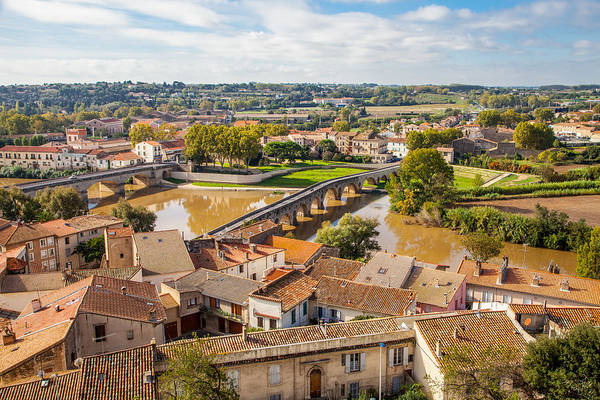 Wall Art - Photograph - Le Pont Vieux Beziers France by W Chris Fooshee