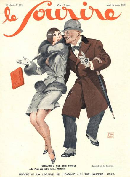 Nineteen-thirties Wall Art - Drawing - Le Sourire 1930s France Glamour Lechers by The Advertising Archives