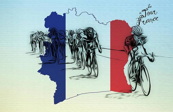 Photograph - Le Tour De France by Bill Cannon
