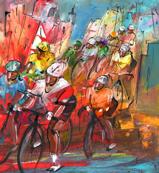 Painting - Le Tour De France Madness 04 by Miki De Goodaboom
