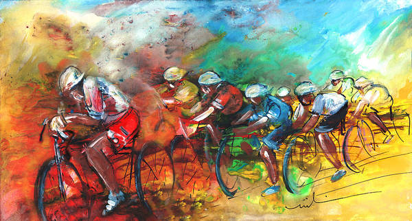 Wall Art - Painting - Le Tour De France Madness 05 by Miki De Goodaboom