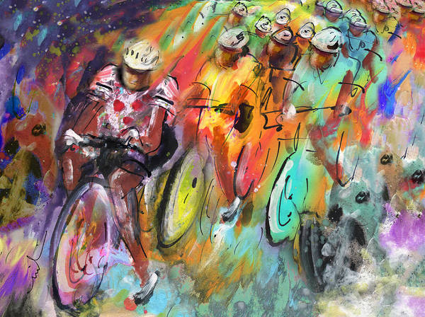 Painting - Le Tour De France Madness by Miki De Goodaboom
