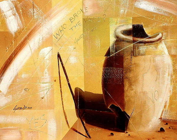 Painting - Le Vase by Laurend Doumba