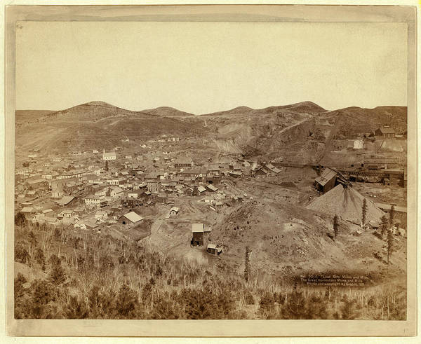 Lead Mine Wall Art - Photograph - Lead City Mines And Mills. The Great Homestake Mines by Litz Collection