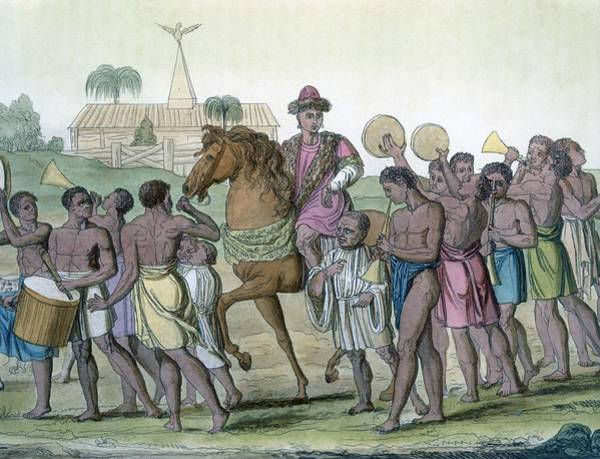 Horseback Drawing - Leader On Horseback, 1812-13 by E. Karnejeff