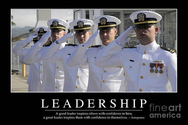 Medal Of Honor Photograph - Leadership Inspirational Quote by Stocktrek Images