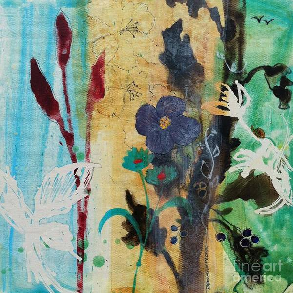 Painting - Leaf Flower Berry by Robin Maria Pedrero