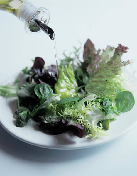 Salad Photograph - Leaf Salad And Olive Oil by Cristina Pedrazzini/science Photo Library