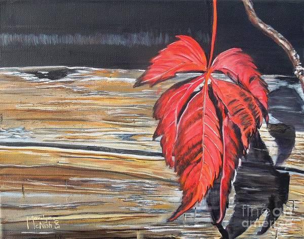 Painting - Leaf Shadow by Marilyn  McNish