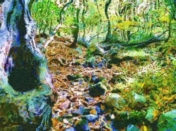 Painting - Leaf Stream by Derek Gedney