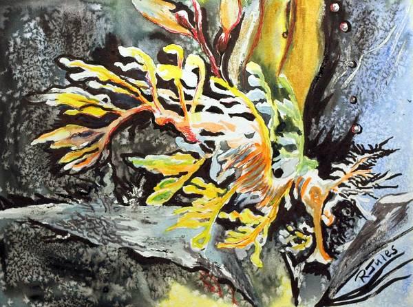 Leafy Dragon Art Print