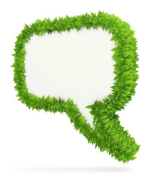 Speech Bubble Wall Art - Photograph - Leafy Speech Bubble by Andrzej Wojcicki/science Photo Library
