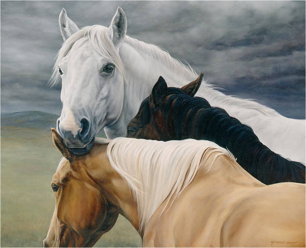 License Wall Art - Painting - Lean On Me by JQ Licensing