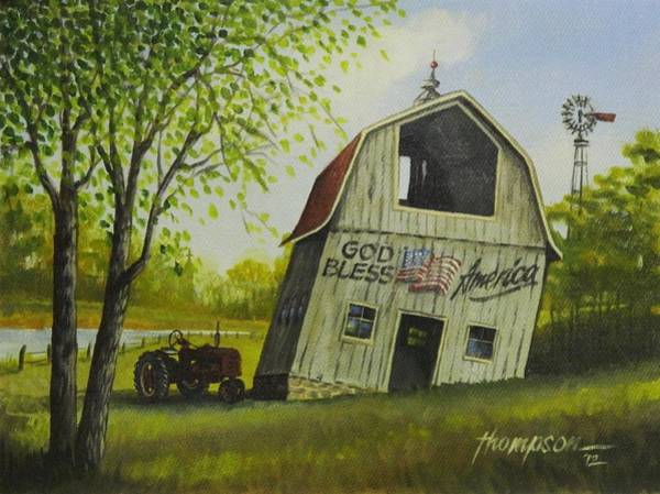 Old Tractor Drawing - Lean On Me by Whitey Thompson