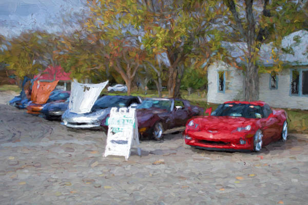 Wall Art - Photograph - Leander Car Show Corvette Alley by JG Thompson