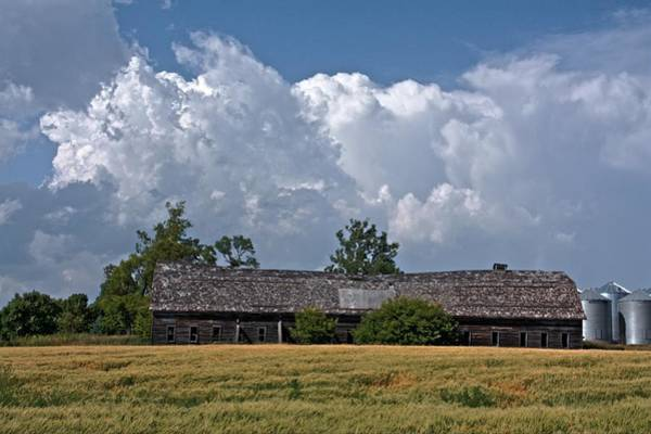 Photograph - Leaning Barn by David Matthews