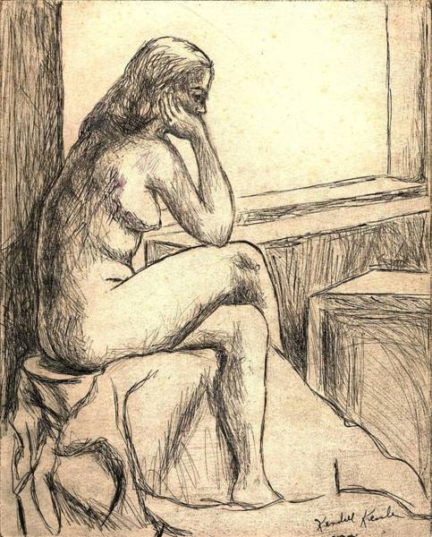 Drawing - Leaning Into The Day by Kendall Kessler