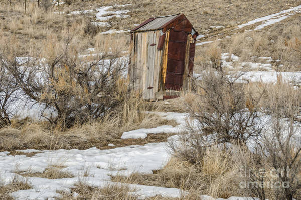 Photograph - Leaning Outhouse by Sue Smith