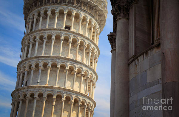 Gothic Arch Photograph - Leaning Tower by Inge Johnsson