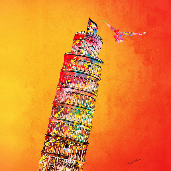 Roma Wall Art - Digital Art - Leaning Tower by Mark Ashkenazi