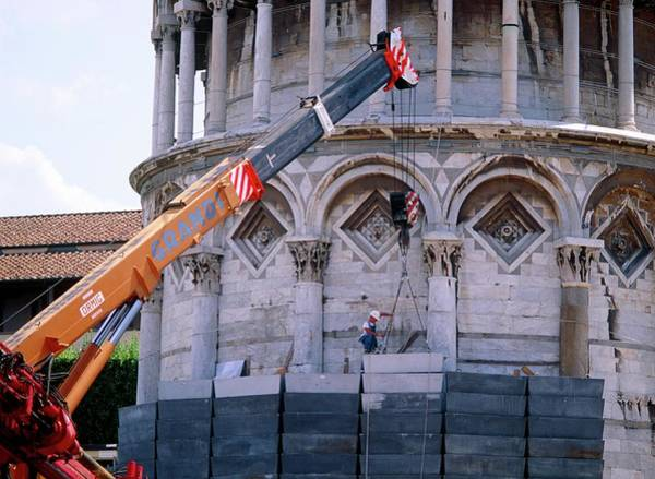 Tower Of David Photograph - Leaning Tower Of Pisa Repairs by David Nunuk/science Photo Library
