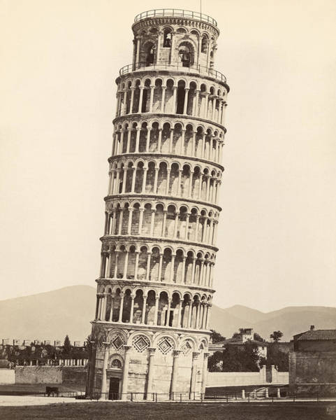 1885 Wall Art - Photograph - Leaning Tower Of Pisa by Underwood Archives