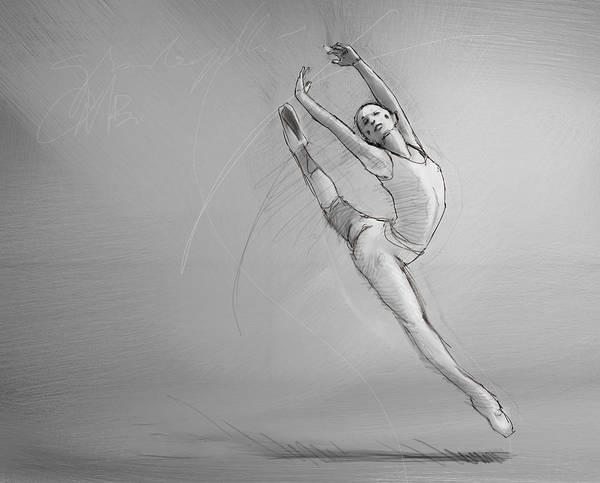 Flying Drawing - Leap by H James Hoff