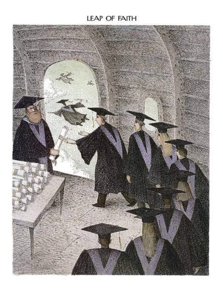 Education Drawing - Leap Of Faith by John O'Brien