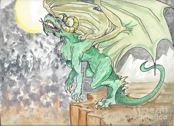 Leaping Dragon Art Print