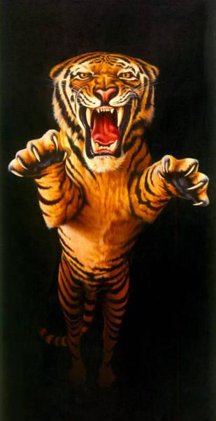 Leaping Tiger Art Print