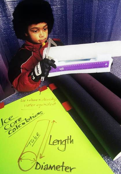 Core Photograph - Learning About Ice Core Sampling by David Hay Jones/science Photo Library
