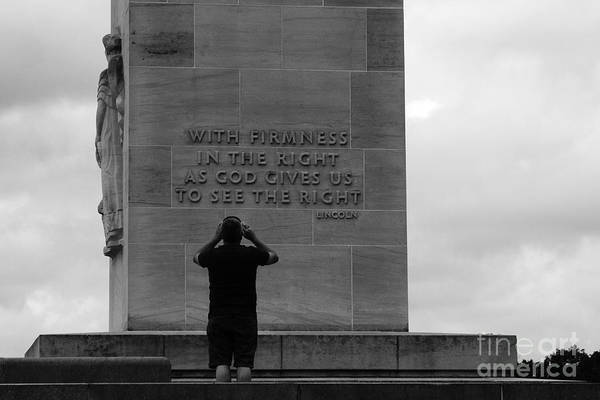 Gettysburg Address Wall Art - Photograph - Learning From Lincoln by James Brunker