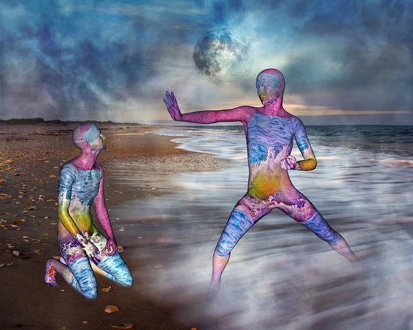 Full Moon Mixed Media - Learning The Way by Betsy Knapp